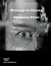 Writings on Cinema (1919-1937) by Germaine Dulac